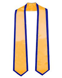 gold and blue graduation stole - Google Search