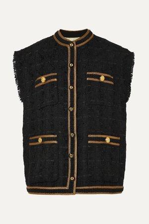 GUCCI, Oversized button-embellished tweed vest jacket