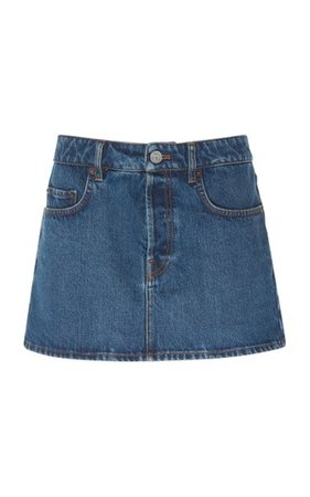 Denim Mini Skirt By Balenciaga   Moda Operandi
