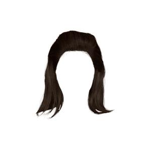 Dark Brown Hair PNG