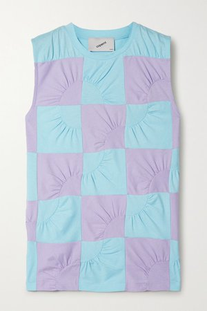 Coperni | Two-tone patchwork cotton-jersey top | NET-A-PORTER.COM