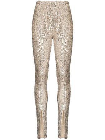 ROTATE Alicia high-waist Sequin Trousers - Farfetch