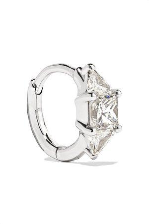 Maria Tash | 6.5mm 18-karat white gold diamond hoop earring | NET-A-PORTER.COM