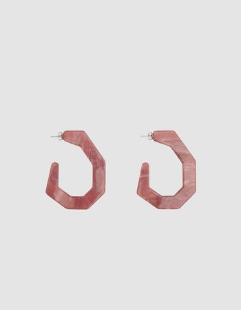 Factor Earrings in Mauve Pink