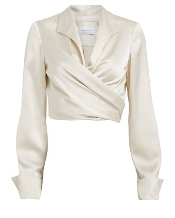 Significant Other | Lucine Satin Wrap Blouse | INTERMIX®