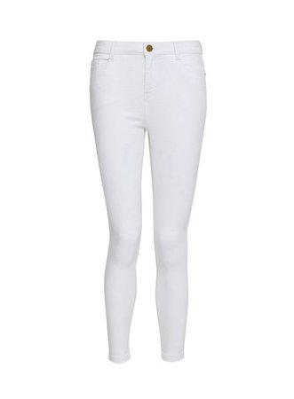 DP Petite White Shaping Jean | Dorothy Perkins