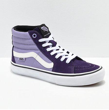 purple vans high tops