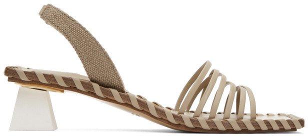 Taupe Les Sandales Valerie Heeled Sandals