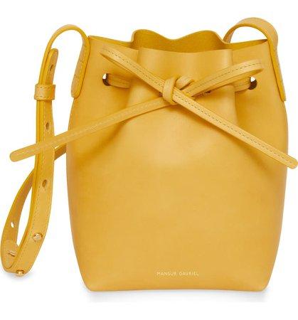 Mansur Gavriel Mini Mini Leather Bucket Bag | Nordstrom