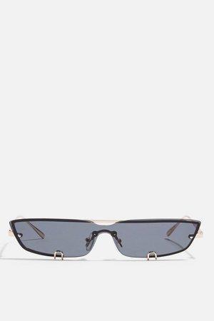 Slim Clip Lens Sunglasses | Topshop