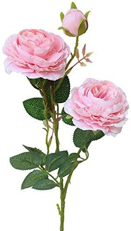 Buy Lailailaily Artificial Fake Western Rose Flower Peony Bridal Bouquet Home Decor PK Pink  Plastic Online at Low Prices in India - Amazon.in