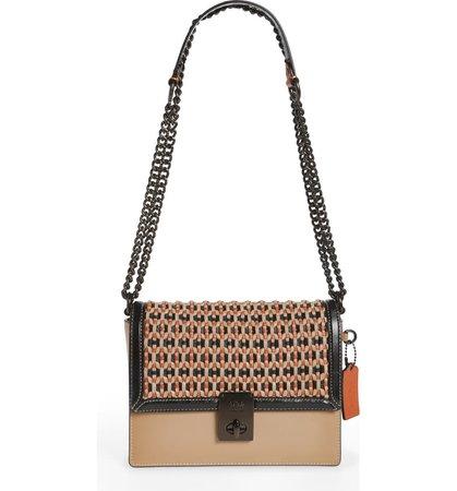 COACH Hutton Woven Leather Convertible Bag   Nordstrom