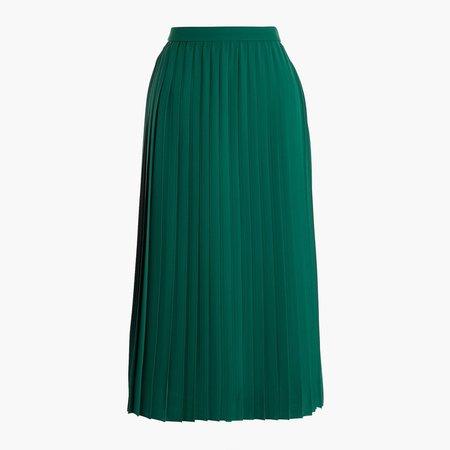 Petite long pleated midi skirt