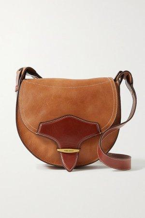 Botsy Two-tone Leather Shoulder Bag - Brown