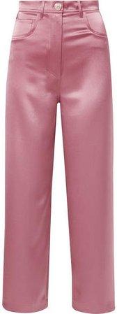 Marfa Satin Straight-leg Pants - Pink