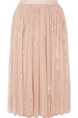 Needle & Thread   Sequin-embellished tulle midi skirt   NET-A-PORTER.COM