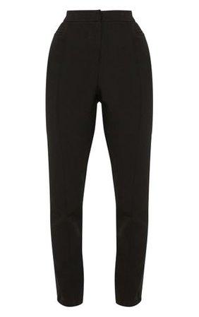 Avani Black Suit Trousers   Trousers   PrettyLittleThing