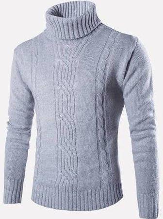 men's cable knit turtle neck - Google Search