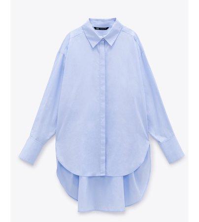 camisa oversize azul ZARA