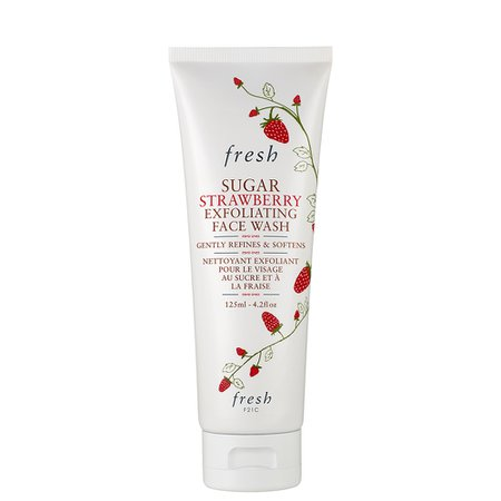 Fresh Sugar Strawberry Exfoliating Face Wash - Natural Face Cleanser - Fresh