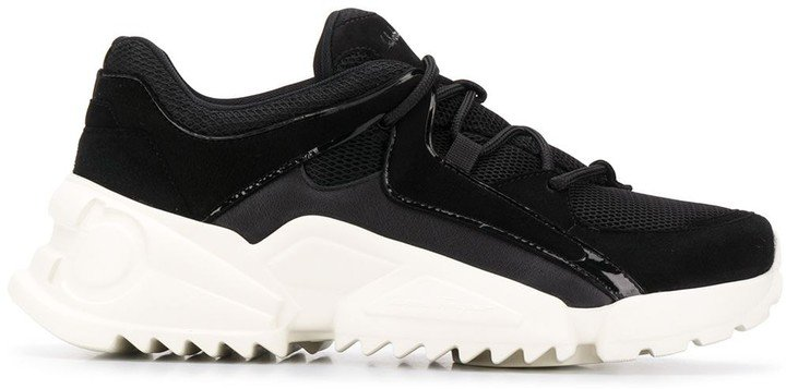 Chunky Saw-Sole Low-Top Trainers
