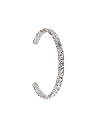 Silver Versace crystal-embellished cuff bracelet - Farfetch