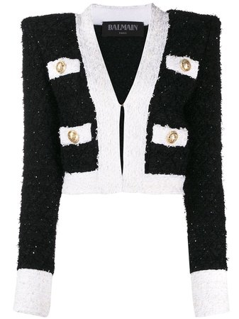 Balmain cropped tweed jacket $2,858 - Shop AW19 Online - Fast Delivery, Price