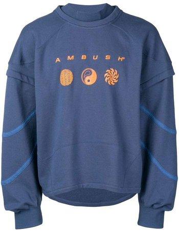 logo layered sweatshirt