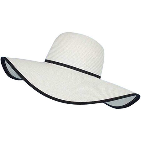 Lanzom Women Lady Wide Brim Straw Hat Floppy Foldable Roll up Beach Cap Sun Hat UPF 50+ (Style A-Beige) at Amazon Women's Clothing store:
