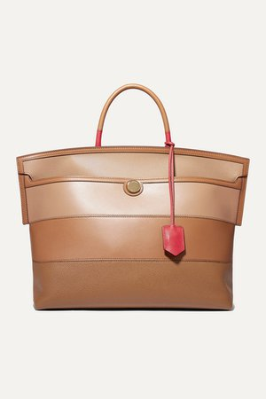 Burberry | Smooth and textured-leather tote | NET-A-PORTER.COM