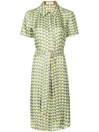 Diane Von Furstenberg, Ari Pailettes Corsica-print Shirt Dress