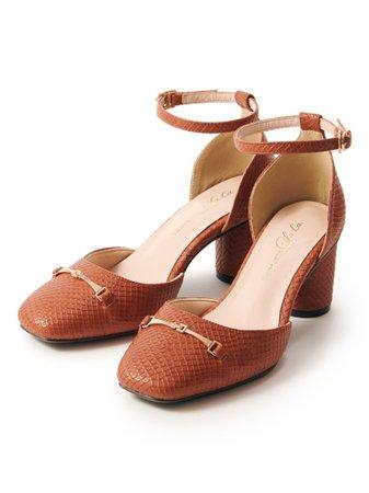 ビットツキスクエアパンプス(シューズ(靴)/パンプス)|Supreme.La.La.(シュープリーム ララ)の通販|ファッションウォーカー
