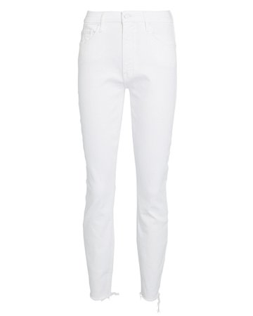 MOTHER | The Looker Fray Skinny Jeans | INTERMIX®