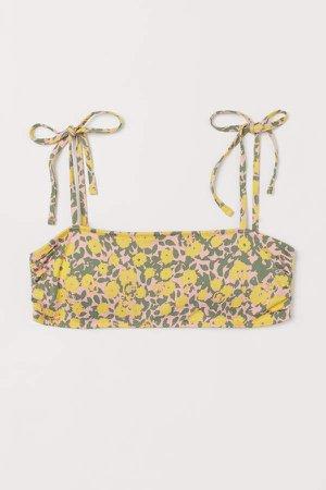 Padded Bandeau Bikini Top - Yellow