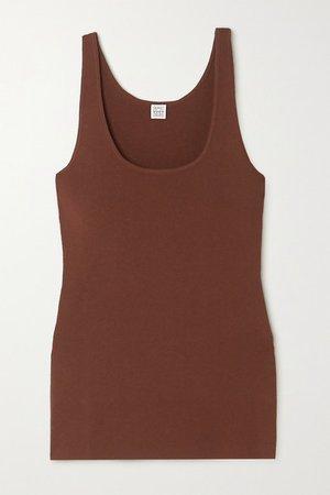 Urda Knitted Tank - Brown