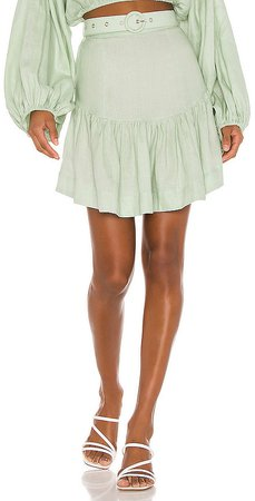 SWF Belted Mini Skirt