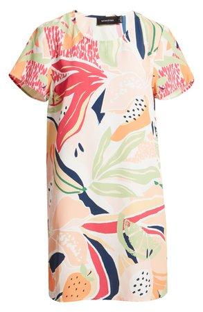 MINKPINK Wild Orchard Shift Dress multi