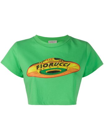 Fiorucci Flying Saucer Cropped T-shirt - Farfetch