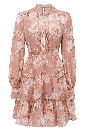 Ever New Kai Long Sleeve Minidress | Nordstrom