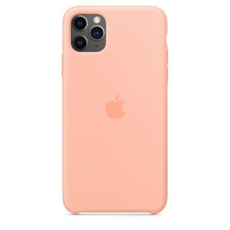 iPhone 11 Pro Max Silicone Case - Grapefruit - Apple