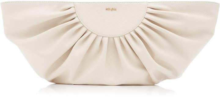 Cult Gaia Marisol Fan Leather Clutch