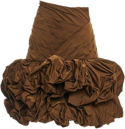 Balmain Ruffled Crepe Skirt
