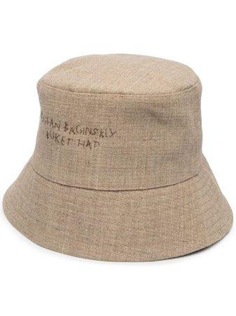 Ruslan Baginskiy embroidered-logo Bucket Hat - Farfetch