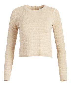 Cream Renae Crop Sweater