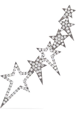 Diane Kordas | Star 18-karat rose gold diamond ear cuff | NET-A-PORTER.COM