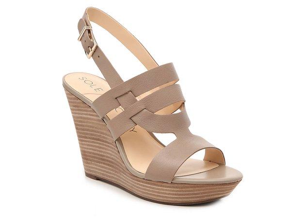 Sole Society Jenny Wedge Sandal Women's Shoes | DSW