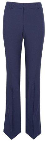Navy Short Leg Bootcut Trousers