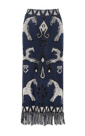 Chauvet Jacquard-Knit Cotton Maxi Skirt By Johanna Ortiz   Moda Operandi