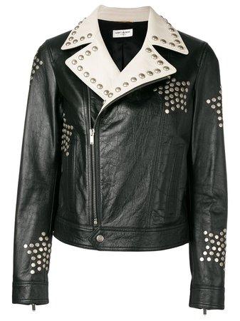 Saint Laurent Studded Biker Jacket - Farfetch