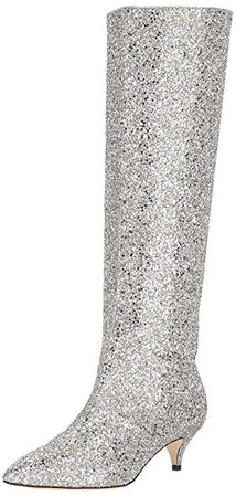 Amazon.com | kate spade new york Women's Olina, Silver/Gold, 5 M US | Knee-High